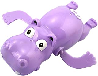 NUOLUX Wind Up Bath Toys Animals Hippo Clockwork Swimming Toy for Baby Kids Toddler Infant