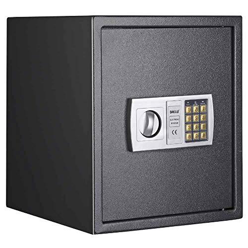 Bakaji Cassaforte Mobile da Parete Numerica Digitale 40 x 40 x 35 cm Cassetta di Sicurezza a Muro Elettronica Casa Albergo Hotel Safe con + 4 x AA Batterie e 2 Chiavi di Emergenza
