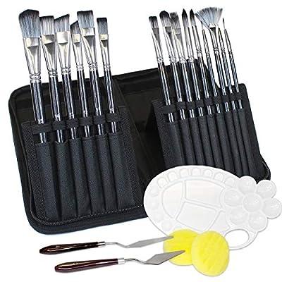 Amazon - Save 40%: Ellis Kas Art Paint Brushes Set ,15 Different Sizes Paint Brushes,2 Palette Knives,…