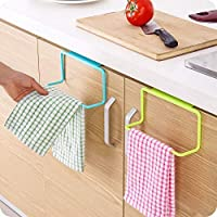 ALWAFLI Towel Holder Rack Cupboard Over Door Organizer for Kitchen Cabinate Bathroom (Pack of 2) Color May Vary