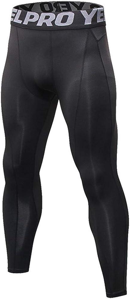 SANKE Mens Running Leggings Long Johns Thermal Compression Pants Baselayer Workout Athletic Tights