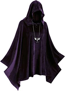 Halloween Cloak Hooded Black Halloween Costume Unisex Witch, Robe Cape Cosplay Christmas Skull Print Mask