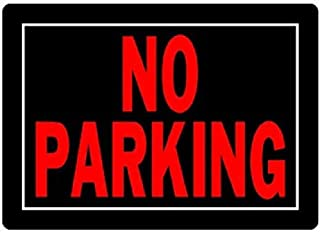 Hillman 840145 No Parking Sign, Black and Red Aluminum Metal, 10x14 Inches 1-Sign