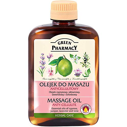 Green Pharmacy Massage Oil Anti-cellulite Cypress Juniper Lavender Lime Oils 200 ml