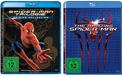 Spider-Man Trilogie (Film 1-3) + The Amazing Spider-Man Box (Teil 1+2) im Set - Deutsche Originalware [5 Blu-rays]