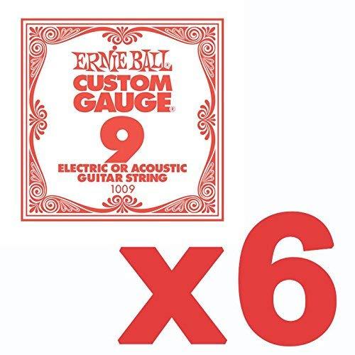 Ernie Ball .12 Custom Gauge Guitar Single Strings Electric or Acoustic Pack 6