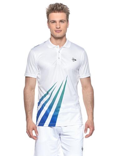 Dunlop Bekleidung Men–Polo XL Bianco/Verde/Blu