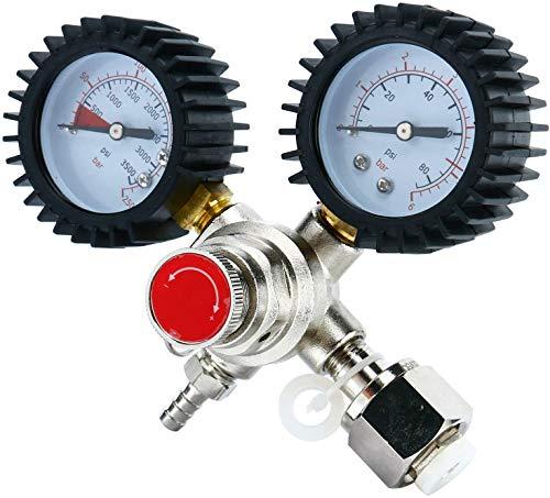 TOPQSC - Regolatore per idropulitrice, riduttore di pressione all'anidride carbonica, pressione di esercizio 0-80 psi, pressione del serbatoio carburante 0-3500 psi, adatto per negozi, bar, case