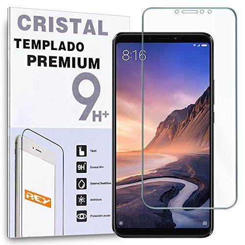 REY Protector de Pantalla para XIAOMI MI MAX 3, Cristal Vidrio Templado Premium