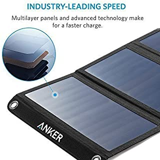 شاحن بالطاقة الشمسية 21 وات بمنفذين يو اس بي من انكر - بالطاقة الشمسية