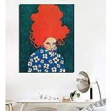 KWzEQ Cartel de Cuello Alto Retro Ropa de niña Pintura de Lienzo Sala de Estar decoración del hogar Pintura al óleo Moderna Arte de Pared,Pintura sin Marco,70x90cm