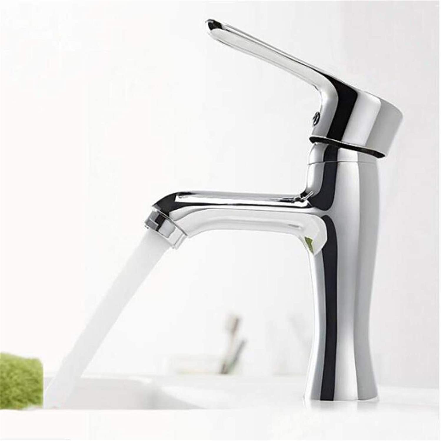 Faucet Washbasin Mixer Modern Bathroom Products Chrome Finished Hot and Cold Water Basin Faucet Mixer Single Handle Water Tap Torneira