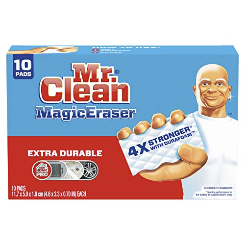 Mr Clean Magic Eraser Extra Durable, Cleaning Pads with Durafoam, 10 Count