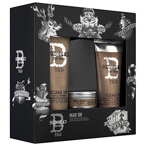 Tigi Geschenk-Set Man Männerset bestehend aus 250 ml Shampoo, 200 ml Conditioner & 85 g Haarwachs