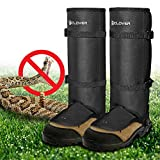 IC ICLOVER Snake Guards, New Upgraded Lightweight Stab-Resistant Snake Gaiters Proof Leggings, Protects Against Snake Bite of All Types of Rattlesnakes, Adjustable Size Fits for Men and Women-Large