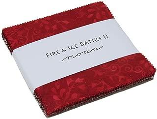 MODA Fire & Ice II Batiks Charm Pack Classics; 42-5 inch Precut Fabric Quilt Squares
