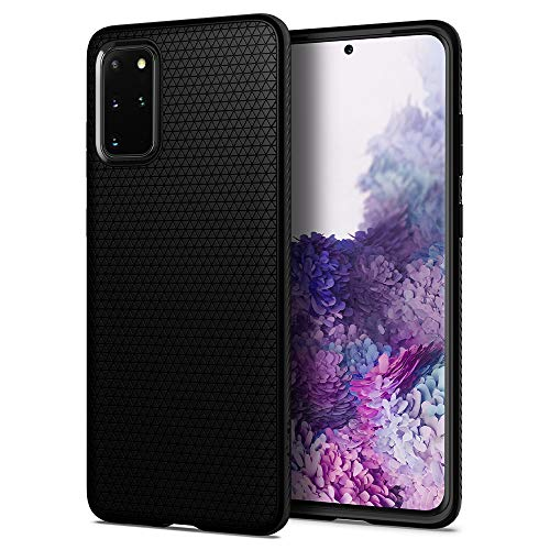 "Spigen Funda Liquid Air, Compatible con Samsung Galaxy S20 Plus (6.7"") 2020 - Negro"