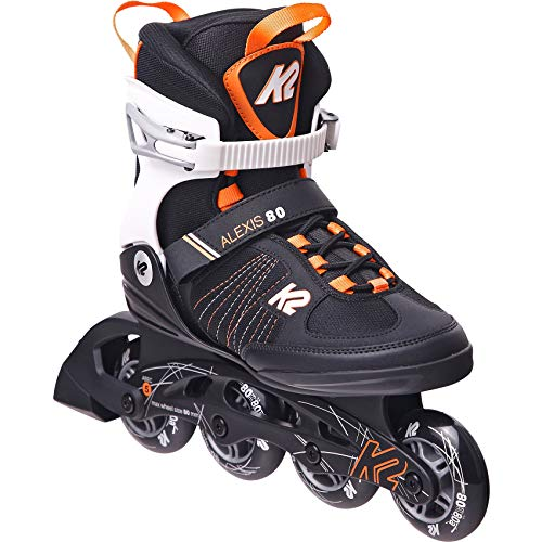 K2 Skates Damen ALEXIS 80 Inline Skates, Black-Purple, 37 EU (4.5 UK)