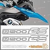 2pcs Adhesivo Compatible con Motocicletas R1200 GS BMW Motorrad R 1200 R1200GS (White)