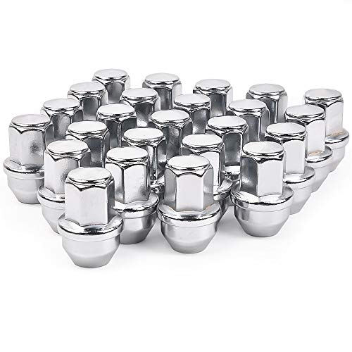 MIKKUPPA 24pcs M14x1.5 One-Piece Chrome OEM Factory Style Large Acorn Seat Lug Nuts Replacement for 2015-2020 Ford F-150 F150 Expedition Lincoln Navigator Factory Wheels