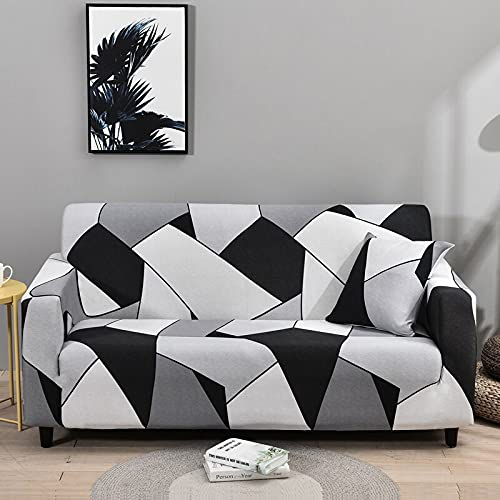 WXQY Elastic floral sofa cover modern living room sofa cover, corner, chaise longue, chair protector, sofa all-inclusive cover A17 4 seater