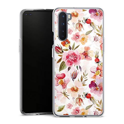 DeinDesign Silikon Hülle kompatibel mit OnePlus Nord Case transparent Handyhülle Tapete Frühling Blumen