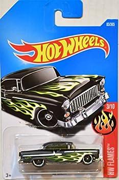 Hot Wheels 2017 HW Flames  55 Chevy 83/365 Black