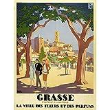 Broders Grasse Flower Parfüm City Travel Advert Kunstdruck