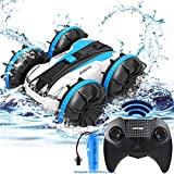 Kids Toy Cars for 5-12 Year Old Boys Girls RC Car/Boat Remote Control Cars Pool Water Toy Gift Off Road Rock Crawler 4WD 2.4Ghz Waterproof Stunt Radio Controlled Vehicles Electric Beach Truck