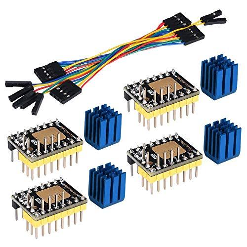 YO-TOKU TMC2130 V3.0 Stepper Motor StepStick Mute Silent Driver with Heatsink for 3D Printer Control Board 4 Packs(SPI) Motors