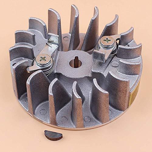 HaoYueDa Llave de Arranque de Volante Woodruff Compatible con Husqvarna 142 142E 137 137E Piezas de Repuesto de Motosierra de Arranque fácil 530059637