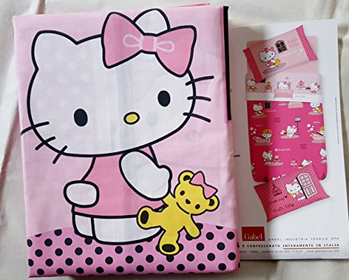Funda nórdica individual Hello Kitty My Home Gabel – Individual (155 x 205)