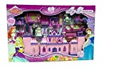 CARTIFY Battery Operated My Dream Beauty Castle Play Set Music and Beautiful Lights, Barbie House, Doll House (Multicolor)