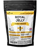 Royal Jelly 750mg Tablets by Nutri VIP | Boosts Energy Levels & Helps Fight Hay Fever (60 Tablets)