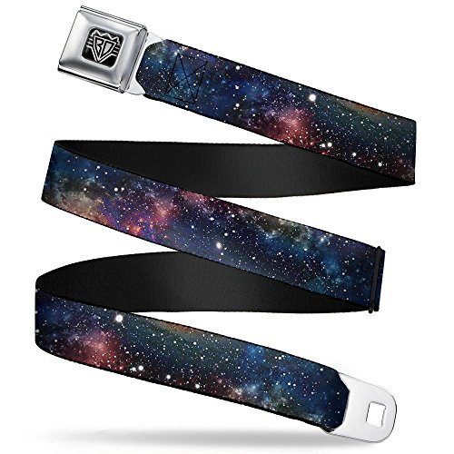 Buckle-Down Unisex-Adult's Seatbelt Belt Space Regular, dust Collage, 1.5' Wide-24-38 Inches, Multicolor