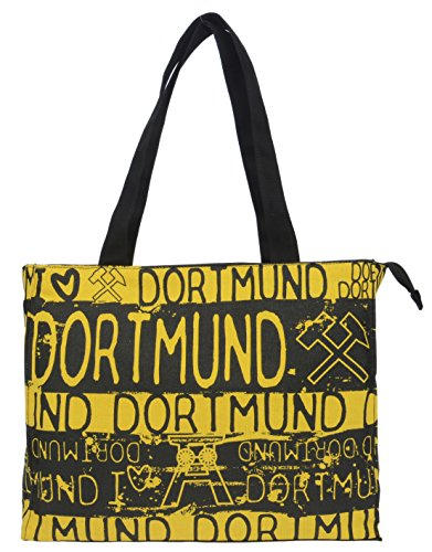 By Diana I LOVE DORTMUND Tasche gelb schwarz mit Zeche BG3406A
