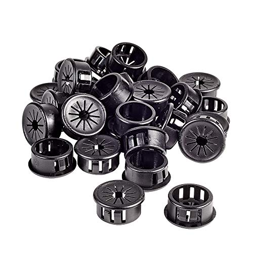 Fielect Cable Hose Snap Bushing Grommet Protector 30Pcs EHR-22 22mm Mounted Dia Locking Bushing Protective Grommet Black