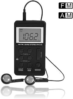 Radio FM Digital, Am/FM Mini Receptor Radio de Bolsillo Estéreo Personal con Pantalla LCD y Auricular Incorporada 500 mA Batería Recargable Radio portátil para Caminar, Trotar, Viajar, etc.