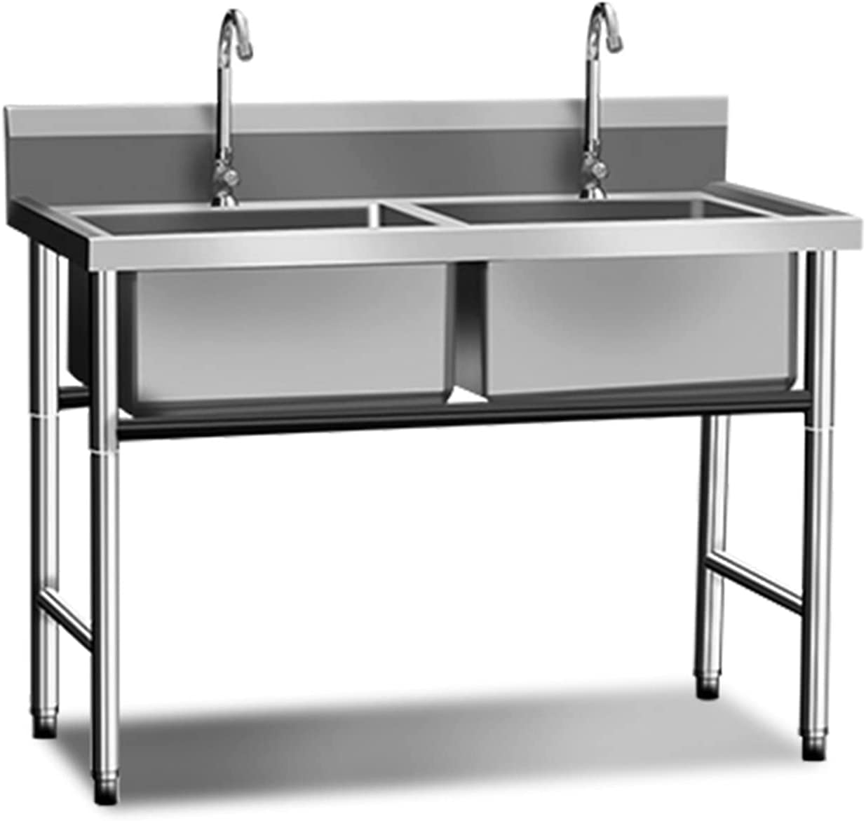 Japan's largest assortment Commercial 201 Stainless Steel Sink Free Standing Max 67% OFF 2 Compartment