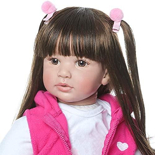 Boneca Reborn Baby Like Real Child Presentes para bebês de 60 cm feita à mão de silicone macio vinil Bebe boneca para meninas