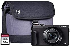 """20.1 megapixel 1.0-Type stacked CMOS sensor 24mm wide lens with 5x optical zoom Fast f/1.8-2.8 aperture Digic 8 processor 30fps RAW Burst mode 4K movies for incredible resolution 120fps full HD movies 3.0"""" touchscreen LCD - tilting screen Included: c..."""