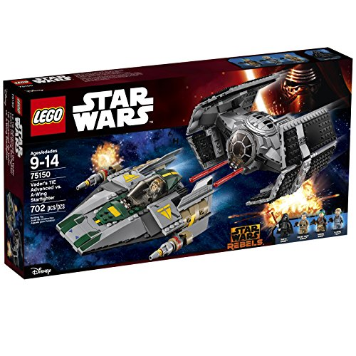 LEGO Star Wars Vader's TIE Advanced vs. A-Wing Starfighter 75150 by LEGO