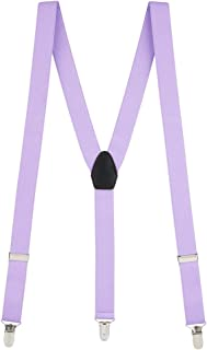 SuspenderStore Men's Y-Back Fresh Hues Suspenders - 1 Inch Wide Clip