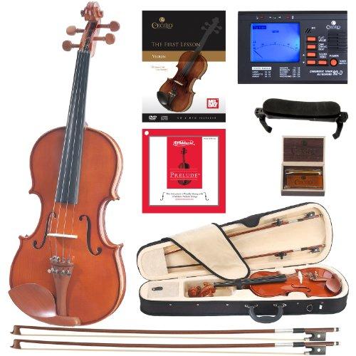 Cecilio CVN-200 Solidwood Violin with D'Addario Prelude Strings (Size 1/4)