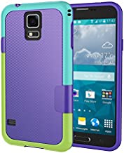 Galaxy S5 Case, Jeylly [3 Color] Slim Hybrid Impact Rugged Soft TPU & Hard PC Bumper Shockproof Protective Anti-Slip Case Cover Shell for Samsung Galaxy S5 I9600 GS5 G900A - Purple
