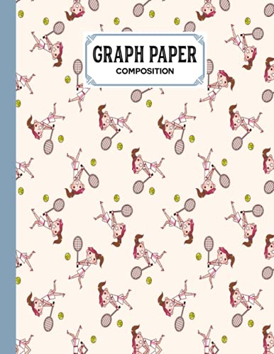 Graph Paper Composition Notebook: Tennis Graph Paper Composition, Grid Paper Notebook, Quad Ruled, 100 Sheets, Size 8.5' x 11' by Elaine Fellows