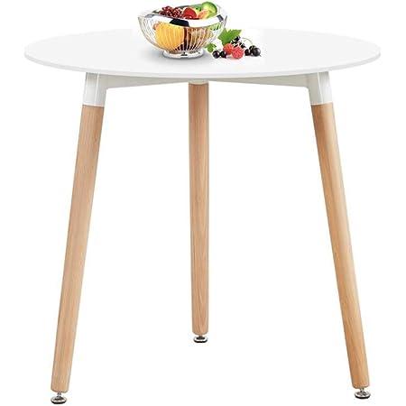 H.J WeDoo Ronde Table de Salle à Manger scandinave Moderne Style rétro Blanche