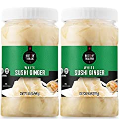 """A FRESH, SWEET, FLAVORFUL PALATE REFRESH: Known in Japan as """"Gari"""" or """"Shin-shoga no amazu-zuki"""", pickled young ginger is served and eaten to reset the palate between different sushi dishes or like an aperitif before or after a meal. TRADITIONAL JAPA..."""