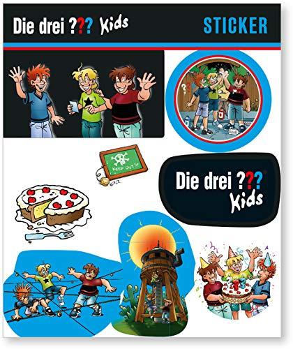 DH-Konzept 8-TLG. Aufkleber-Set * DIE DREI ??? Kids * als Mitgebsel oder Geschenk   3 Fragezeichen Detektive Bilder Kinder Kindergeburtstag Geburtstag Basteln