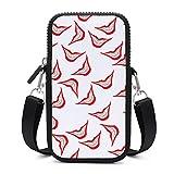 Monedero para teléfono móvil, bolso cruzado con correa para el hombro extraíble, con dientes rojos, anticaídas, funda para teléfono móvil, brazalete, cartera, bolsos al aire libre, hombres